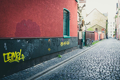 Schonende Graffiti Entfernung